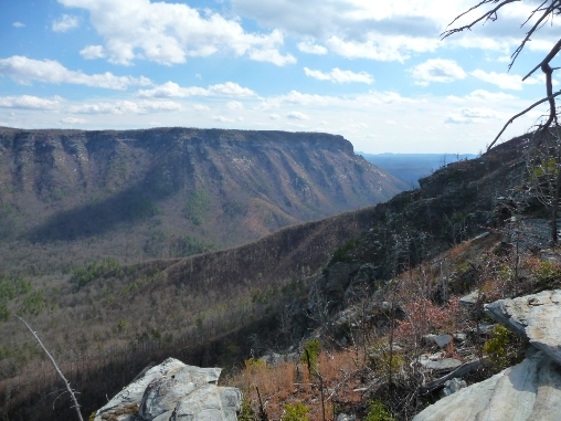 View of Linville Gorge looking South from Rock Jock Trail
