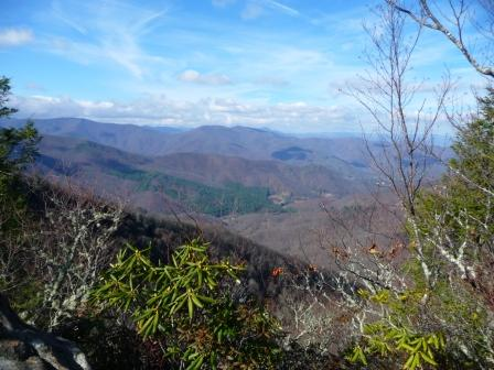 View west from trail to Cold Mountain