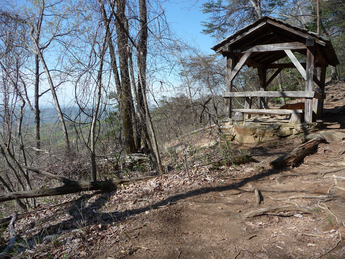 Trail Shelter Along Table Rock