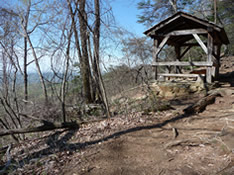 Trail Shelter along Table Rock Trail