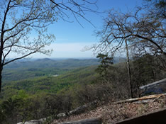 View from Shelter on Table Rock Trail
